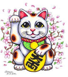 maneki neko cat cartoon - Google Search