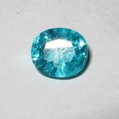 Batu Permata Apatite Oval 2.09 carat Bluish Green