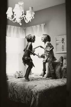 I remember the day's when we jumped on the bed, and nothing else ever seem to matter. Childhood memories