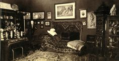 Freud's Office at Berggasse 19, Vienna, by Edmund Engelman in 1938. Photos taken just days before the Freud family departed for London.