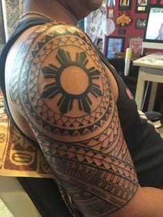 filipino tattoos and meanings Hawaiianisches Tattoo, Tattoo Script, Band Tattoo, Samoan Tattoo, Tattoo Maori, Filipino Tribal Tattoos, Hawaiian Tribal Tattoos, Traditional Filipino Tattoo, Philippines Tattoo