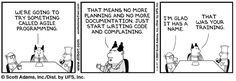 """""""Dilbert"""" on Extreme and Agile Programming"""