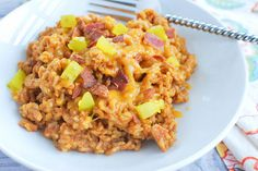 Bacon Cheeseburger Rice - a family-friendly meal that's ready in less than 20 minutes!