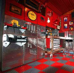 A great example of how Wall Control's modular and multi-colored pegboard panels can be used to create a truly custom tool storage and organization area! Thanks for the great customer submission Mark!