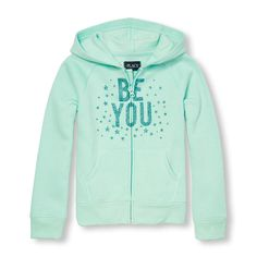 The Childrens Place Big Girls Patch Zip Hoodie