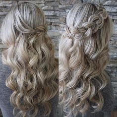 Back from Mexico and starting my workweek off with trial runs! So excited for Devon's wedding in April! Her highlights really make this braid and these curls pop