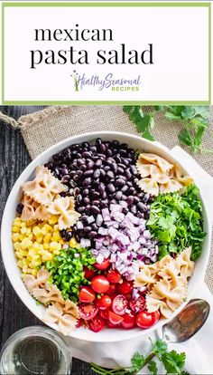 Mexican Side Dishes, Mexican Salads, Mexican Food Recipes, Vegetarian Recipes, Cooking Recipes, Mexican Salad Dressings, Greek Side Dishes, Mexican Bean Salad, Mexican Chopped Salad