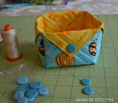 Tengerparti öltések: Fabric Box Tutorial
