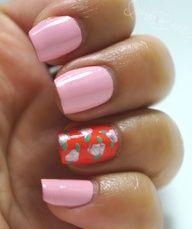 Spring Trend: Bright  Floral Nail Art #nails
