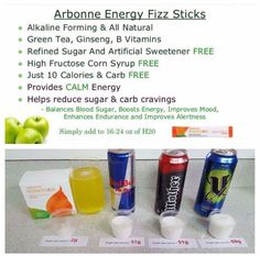 I start my day off with a fizz!! Helps alertness and gives me safe energy!! www.monicamills.arbonne.com