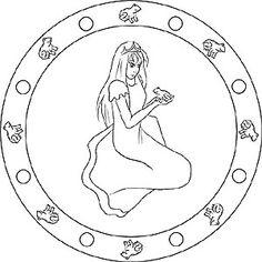 Mandala vom Froschkönig Ausmalbild für Kinder