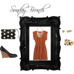 Sunday Brunch, created by amytsuch on Polyvore featuring the Stella & Dot - Essential Ball Studs in Gold