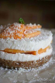 coconut rockmelon mousse cake