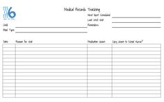 Momof6 Medical Records Tracking Sheet  How to Keep Medical Records for Your Kids