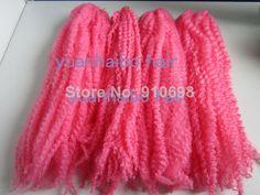 For pink Marley crochet braids