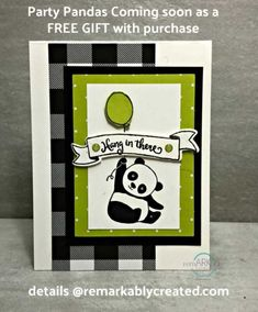Did you see the cute new Panda stamps from Stampin' UP! Debuting January 3rd! more details www.remarkablycreated.com