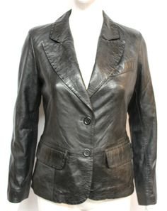 The Mary two button classic blazer. Made from genuine lambskin leather which is durable and light weight. Superb Fitting, button closer and two waist pocket. The interior of the jacket is fully line. | eBay!