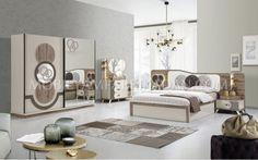 Yeni sezonda modern ve orjinal bir tasarıma sahip Origami Yatak Odası takımımız çok sevilecek.#mobilya #inegöl #modern #tasarım #yaşam #oda #ev #ceviz #ekru #yatak Room Decor Bedroom Rose Gold, Silver Bedroom, Room Design Bedroom, Luxury Bedroom Design, Bedroom Furniture Design, Modern Bedroom, Living Room Decor, Room Color Design, Luxurious Bedrooms