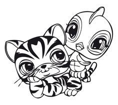 Dibujos para Colorear. Dibujos para Pintar. Dibujos para imprimir y colorear online. Littlest pet shop 17