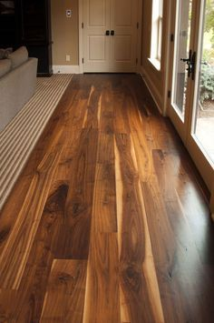 No sanding no mess non toxic hard wood floor refinishing diy this walnut wide plank flooring is cut from dead or fallen virgin wood timbers that are solutioingenieria Image collections