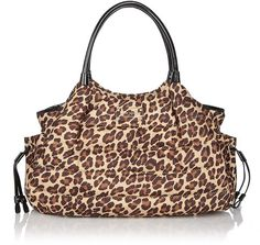 I think I found my diaper bag:   kate spade leopard baby stevie