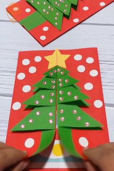 10 fun origami ideas for christmas diy tutorials videos part 5 paper craft wonder christmas craft diy fun ideas origami paper part tutorials videos top 27 cute and money saving diy crafts to welcome the easter Diy Christmas Cards, Christmas Crafts For Kids, Kids Crafts, Crafts To Make, Easy Crafts, Christmas Decorations, Christmas Christmas, Christmas Ideas, Christmas Origami
