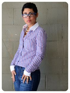 Using Ready Made to make your #DIY Shirt fit just right! Pattern Review Burda 7136