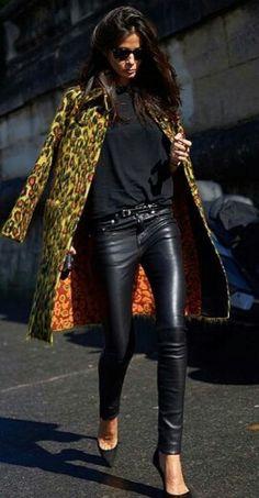 Barbara Martelo Paris Fashion week outfit Maison Valentino A/W15 streetstyle