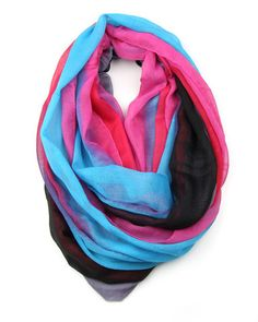 Infinity Scarf - Pink Blue