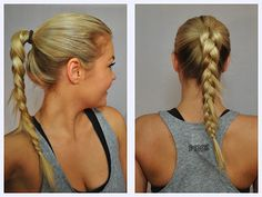 Pony tail braid for gym or sports