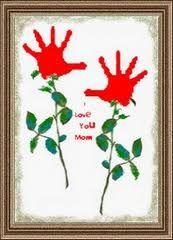 Valentijn roos van hand
