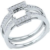 I love it when the engagement and wedding rings literally FIT together 3/8ct TW Diamond Solitaire Ring Insert