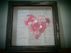 Light Pink and Black SweetHeart 3D Button Heart by EclaireEclectic, £23.15