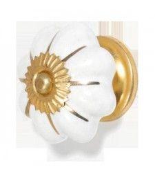 New Ceramic 4cm White/Gold