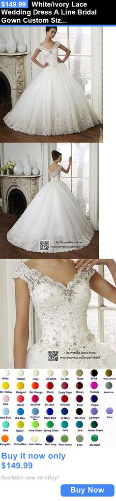 Wedding Dresses: White/Ivory Lace Wedding Dress A Line Bridal Gown Custom Size 6-8-10-12-14-16+++ BUY IT NOW ONLY: $149.99