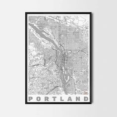 Portland art prints -Art posters and prints of your favorite city. Unique design of a map. Perfect for your house and office or as a gift for friend.