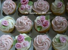 i like the simple elegance of the pink with a single pearl Bridal Shower Cupcakes, Southern Cottage, Just Cakes, Shower Time, Simple Elegance, Pink Flowers, Event Ideas, Party Ideas, Cupcake Cakes