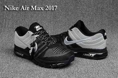 13cacfd0b85 Nike Air Max 2017 Top Black Gray Men Mens Running Trainers