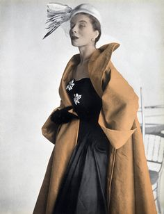Jacques Fath 1951 Photo Russel, Evening Coat