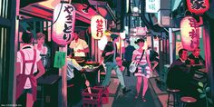 "Omoide Yokocho (otherwise known as ""Memory Lane"" or ""Piss Alley"") in Shinjuku, Tokyo by Kali Ciesemier for Light Grey Art Lab's ""In Place"" exhbition."