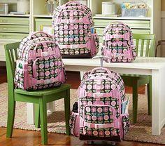 I love the Mackenzie Chocolate Geo Backpacks on potterybarnkids.com