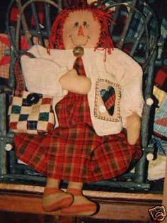 "Raggedy Country Doll ""Sweet Annie"" 19"" Little Stitiches Sewing Pattern Crafts"