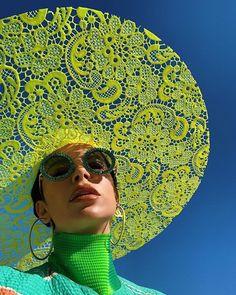 Lacy Sun Hat 🎆⠀ By: Jo Miller & Marta Jakubowski for Koibird⠀ Art Photography, Fashion Photography, Anna Karina, Mode Inspiration, Editorial Fashion, Eyewear, Fashion Accessories, Silhouette, Fashion Outfits