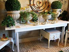 Potting table made from old doors - LAH