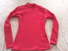 Under Armour Large Cold Gear Mock Top Pink Womens Ski Run #UnderArmour #ShirtsTops