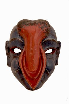 Inland of Butan, an oblation mask to Buda from newlyweds.  This one is the groom's.  Respectively, there is one also for the bride.  Its phallic symbol is more explicitly expressed without however depicting the act itself.  It's wooden, around 40 centimeters.
