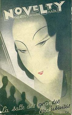 "Program ""Novelty - Theatre Jacques Haïk,"" 1931."