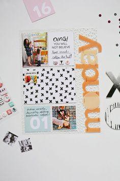 #papercrafting #scrapbook #layout - Scrapbook Sunday: January Messy Box