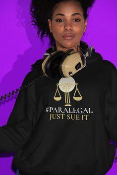 Paralegal, Get Dressed, Graphic Sweatshirt, Unisex, Running, Hoodies, Sleeves, Cotton, Fashion