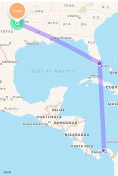 Panama City Panama Guatemala City, Havana Cuba, Gulf Of Mexico, Panama City Panama, Honduras, Belize, Costa Rica, Acapulco